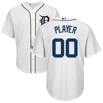 Detroit Tigers Majestic 2018 Home Cool Base Custom Jersey – White