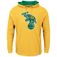 Oakland Athletics Majestic Cooperstown Left/Righty Pullover Hoodie - Yellow