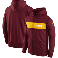 Washington Redskins Nike Team Sideline Full-Zip Performance Hoodie – Burgundy