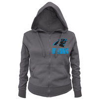 Carolina Panthers 5th & Ocean by New Era Women's Plus Size Local Full-Zip Hoodie - Charcoal