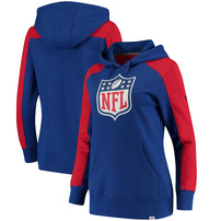 NFL NFL Pro Line by Fanatics Branded Women's Iconic Fleece Pullover Hoodie – Royal/Red