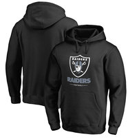 Oakland Raiders Pro Line Team Lockup Pullover Hoodie - Black