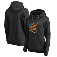 San Jose Sharks Fanatics Branded Women's Hometown Collection City of Teal Pullover Hoodie - Black
