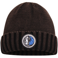 Dallas Mavericks Mitchell & Ness Current Logo Ribbed Knit Hat - Brown