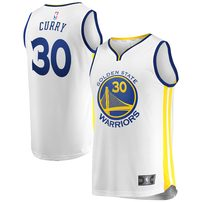 Stephen Curry Golden State Warriors Fanatics Branded Youth Fast Break Replica Jersey White - Association Edition