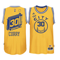 Stephen Curry Golden State Warriors adidas Current Player Hardwood Classics Swingman Performance Jersey - Gold