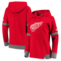 Detroit Red Wings Fanatics Branded Women's Iconic Pullover Hoodie – Red/Heathered Gray