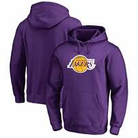 Los Angeles Lakers Fanatics Branded Primary Logo Pullover Hoodie - Purple