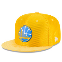 Golden State Warriors New Era NBA On-Court Original Fit 9FIFTY Adjustable Hat - Gold