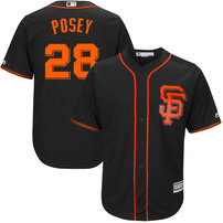 Buster Posey San Francisco Giants Majestic Big & Tall Alternate Cool Base Replica Player Jersey - Black