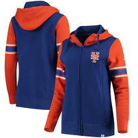 New York Mets Fanatics Branded Women's Iconic Full-Zip Hoodie - Royal/Orange