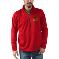 Chicago Blackhawks G-III Sports by Carl Banks Challenge Half-Zip Pullover Jacket - Red