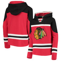 Chicago Blackhawks Youth Asset Lace-Up Pullover Hoodie – Red