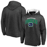 Vancouver Canucks Fanatics Branded Big & Tall Steady Fleece Pullover Hoodie – Gray/White