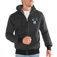 Brooklyn Nets G-III Sports by Carl Banks Discovery Transitional Full-Zip Jacket – Black