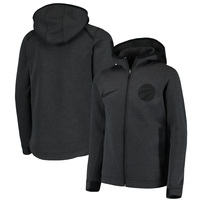 Toronto Raptors Nike Youth Showtime Performance Full-Zip Hoodie - Heathered Charcoal