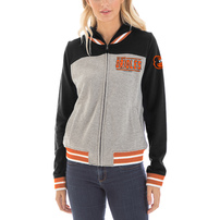 Baltimore Orioles New Era Women's French Terry Full-Zip Hoodie – Gray/Black