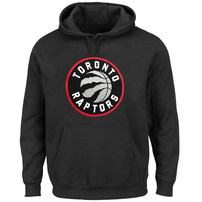 Toronto Raptors Majestic Current Logo Tech Patch Pullover Hoodie - Black