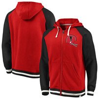Atlanta Falcons NFL Pro Line by Fanatics Branded True Classics Full-Zip Hoodie - Red/Black
