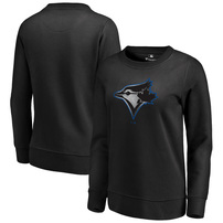 Toronto Blue Jays Fanatics Branded Women's Core Smoke Fleece Sweatshirt – Black