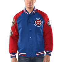Chicago Cubs G-III Sports by Carl Banks Game Ball Commemorative Full-Snap Jacket – Royal/Red