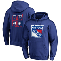 New York Rangers Raise the Banner Pullover Hoodie - Royal