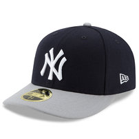 New York Yankees New Era Victory Side Low Profile 59FIFTY Fitted Hat - Navy/Gray