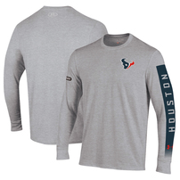 Houston Texans Under Armour Combine Authentic City Name Long Sleeve T-Shirt – Heathered Gray