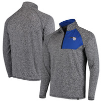 Orlando Magic Fanatics Branded Static Quarter-Zip Pullover Jacket - Heathered Charcoal