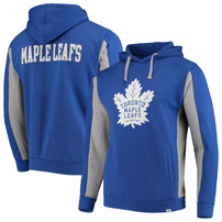 Toronto Maple Leafs Fanatics Branded Colorblock Pullover Hoodie – Blue/Heathered Gray