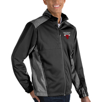 Chicago Bulls Antigua Revolve Big & Tall Full-Zip Jacket - Black