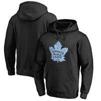 Toronto Maple Leafs Rinkside Pond Hockey Pullover Hoodie - Black