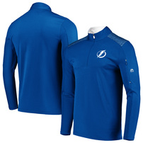 Tampa Bay Lightning Majestic Ultra-Streak Cool Base Half-Zip Pullover Jacket – Blue/White