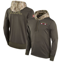 Arizona Cardinals Nike Salute to Service Sideline Therma Pullover Hoodie – Olive