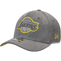 Los Angeles Lakers New Era Authentics Training Series 9FIFTY Adjustable Snapback Hat - Gray