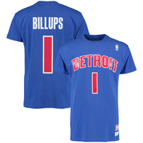 Chauncey Billups Detroit Pistons Mitchell & Ness Name & Number T-Shirt - Blue