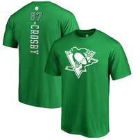 Sidney Crosby Pittsburgh Penguins Fanatics Branded St. Patrick's Day Backer Name & Number T-Shirt – Kelly Green