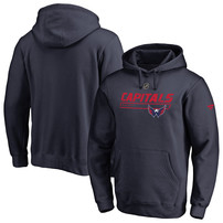 Washington Capitals Fanatics Branded Authentic Pro Rinkside Prime Pullover Hoodie - Navy