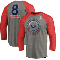 Alexander Ovechkin Washington Capitals Fanatics Branded 2018 Stanley Cup Champions Name & Number Empty Net Long Sleeve T-Shirt – Heather Gray