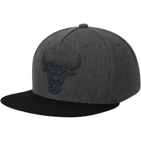 Chicago Bulls Mitchell & Ness Matte Tonal Snapback Adjustable Hat – Charcoal