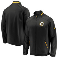 Boston Bruins Fanatics Branded Authentic Pro Rinkside Full-Zip Jacket – Black