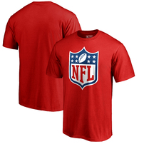 NFL Pro Line by Fanatics Branded NFL Shield Primary Logo Big and Tall T-Shirt – Red
