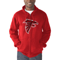 Atlanta Falcons G-III Sports by Carl Banks Primary Logo Full-Zip Hoodie – Red