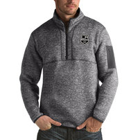 Los Angeles Kings Antigua Fortune Big & Tall Quarter-Zip Pullover Jacket - Heather Gray
