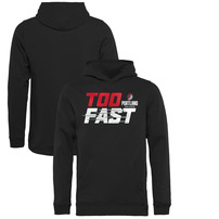 Portland Trail Blazers Fanatics Branded Youth Too Fast Pullover Hoodie – Black