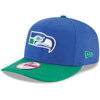 Seattle Seahawks New Era Historic Detailed Vize Original Fit 9FIFTY Snapback Adjustable Hat - Royal/Green