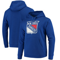 New York Rangers Fanatics Branded Primary Logo Pullover Hoodie - Blue