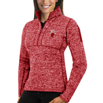 Chicago Bulls Antigua Women's Fortune Half-Zip Pullover Jacket – Heather Red