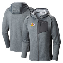 Los Angeles Lakers Columbia Jackson Creek Full-Zip Hoodie - Gray