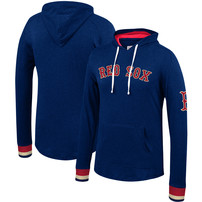 Boston Red Sox Mitchell & Ness Lightweight Pullover Hoodie – Heathered Navy